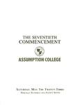 1987 Commencement Program