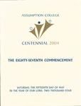 2004 Commencement Program