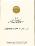 1998 Commencement Program