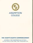 2005 Commencement Program