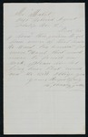 Letter from American Indian man requesting more lumber from Indian Agent Mallet