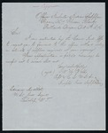 Letter from Office of Inspector of Indian Supplies to Indian Agent Mallet