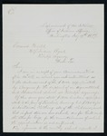 Letter to Indian Agent Mallet from Indian Commissioner