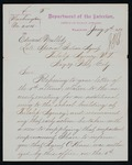 Letter to Former Indian Agent Mallet from Commissioner of Indian Affairs