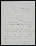 Letter from Indian Agent Mallet to Commissioner of Indians