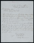 Letter to Indian Agent Mallet to Acting Commission of Indian Affairs