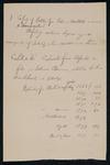 Letter from Edmond Mallet in answers to memorandum