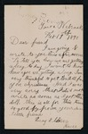 Correspondence from American Indian girl to Major Mallet