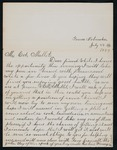 Correspondence to Major Mallet from Fannie or Fanny Rouse.