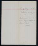 Handwritten copy telegram from Major Mallet to Secretary of the Interior