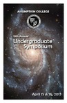 2013 Undergraduate Symposium Brochure by Assumption College