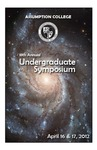 2012 Undergraduate Symposium Brochure by Assumption College
